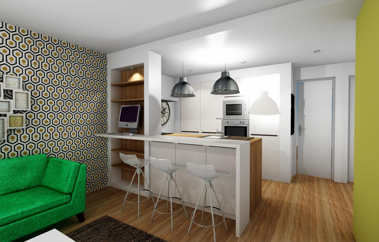 Un appartement de vacances biarritz kiom design for Appartement f2 design