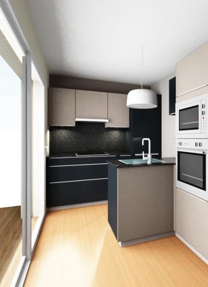 Un appartement sous les toits bayonne kiom design r novation d 39 int rieur cuisine salle - Appartement sous les toits ...